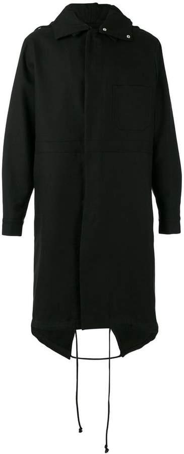 Raf Simons back print hooded coat