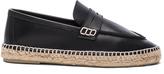 Loewe Leather Loafer Espadrilles