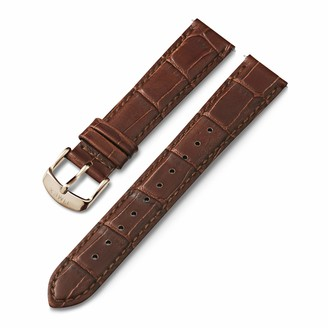Timex 18mm Genuine Leather Quick-Release Strap Brown Croco with Rose Gold-Tone Buckle