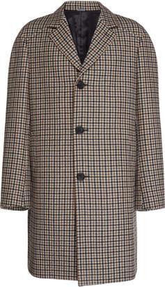 Lanvin Checked Wool Overcoat
