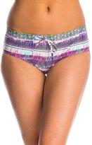 Jessica Simpson Swimwear Limelight Drawstring Boyshort Bottom 8145291