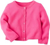 "Carter's Baby Girls' ""Clover Perforated"" Cardigan"