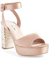 Miu Miu Women's Studded Block Heel Platform Sandal