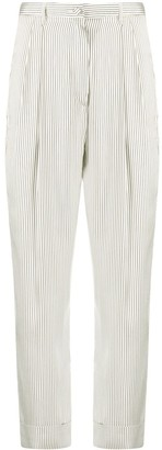 Hebe Studio High-Waisted Striped Trousers