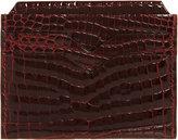 Valextra Women's Alligator Credit Card Holder-PURPLE