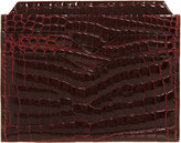 Valextra Women's Alligator Credit Card Holder