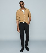 Reiss Calahan - Western Stitch Detail Shirt in Gold