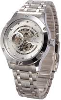 K&S KS Navigator Skeleton Dial Automatic Men's Mechanical Silver Steel Waterproof Watch KS206