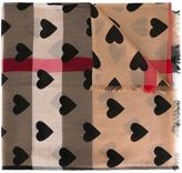 Burberry heart print scarf - women - Modal/Cashmere - One Size