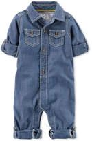 Carter's Little Captain Chambray Cotton Jumpsuit, Baby Boys