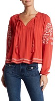 Tularosa Rose Embroidered Blouse