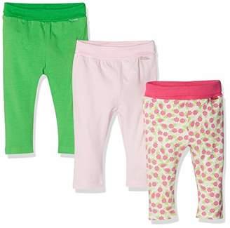 Playshoes Baby Leggings Rosen-grün Im 3er Pack,(Size: 50/56) (Pack of 3)