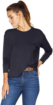 Daily Ritual Amazon Brand Women's Jersey Long-Sleeve Boxy Pocket Tee