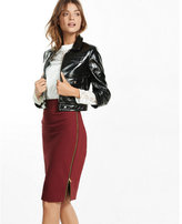 Express side zipper midi pencil skirt