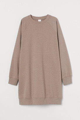 H&M Sweatshirt Dress - Brown