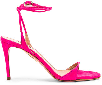 Aquazzura Minute 85 Sandal in Exotic Pink | FWRD