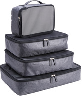 Royce Leather Luxury Travel Packing Cubes (Set of 4)