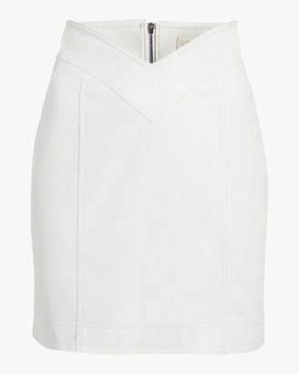 Divine Heritage Vegan Leather Mini Skirt