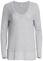 Thumbnail for your product : NIC+ZOE, Petites Waffle-Knit Sweater