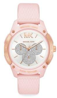Michael Kors Ryder Pave Silicone-Strap Multifunction Watch