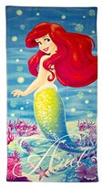 "Disney Little Mermaid Splash 100% Cotton 28"" X 58"" Plush Beach/Bath Towel"