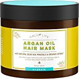CalilyLife Organic Moroccan Argan Oil Hair Mask with Dead Sea Minerals, 17 Oz.- Deep Conditioner and Nourishing - Detoxifies, Softens, Strengthens & Shines - Promotes Healing and Natural Hair Growth