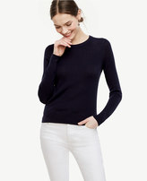 Ann Taylor Petite Stitched Silk Cotton Sweater