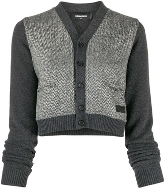 DSQUARED2 Panelled Cropped Cardigan
