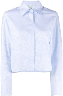 Off-White Waves cropped shirt