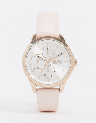HUGO BOSS pink leather watch 1540047