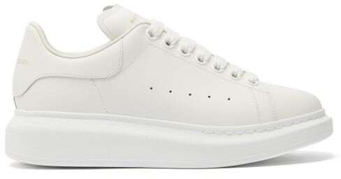 Alexander McQueen Raised-sole Low-top Leather Trainers - Womens - White
