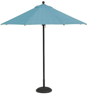 Pottery Barn Round 9' Premium Sunbrella Umbrella - Aluminum Tilt Pole, Bronze