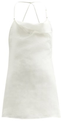 Jacquemus Nappe Shorts-lined Linen Mini Dress - Beige