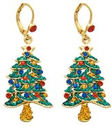Butler & Wilson Butler and Wilson Crystal Christmas Tree Drop Earrings
