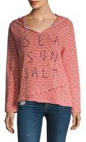Sundry Sea Sun Salt Striped Hoodie