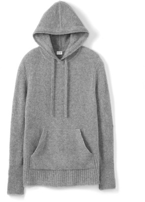 St. John Cashmere Knit Pullover W/ Drawcord Hood & Pocket