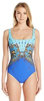 Gottex Women's Versailles Square Neck One Piece Swimsuit
