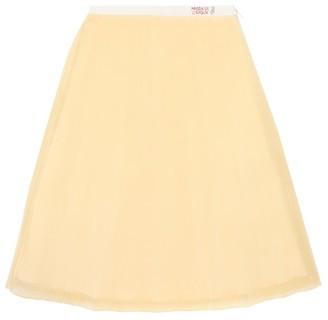 Gucci Kids Pleated silk-organza skirt
