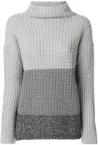 Fabiana Filippi gradient knitted jumper