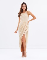 Shona Joy Core High-Neck Ruched Dress