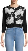 Karl Lagerfeld Women's Embroidered Lace Cardigan