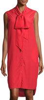 Belstaff Ramsay Silk Sleeveless Shirtdress, Vermillion