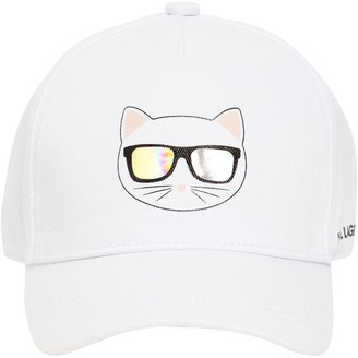 Karl Lagerfeld Paris Cotton Twill Baseball Hat