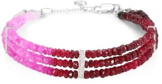 Meira T Diamond & Ruby Bracelet