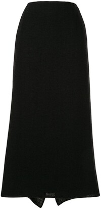 Chanel Pre Owned Long Knitted Skirt
