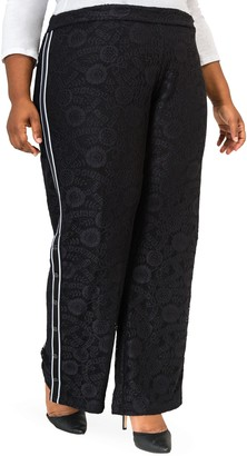 Poetic Justice Cornella High Rise Lace Knit Track Pants