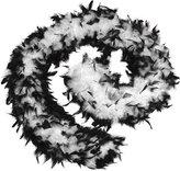 Bristol Novelty Feather Boa 80g. Black/White. (Costume Accessories) - Female - One