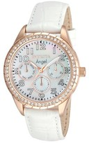 Invicta Women's 12608 Angel Quartz Multifunction White Dial Strap Watch - White