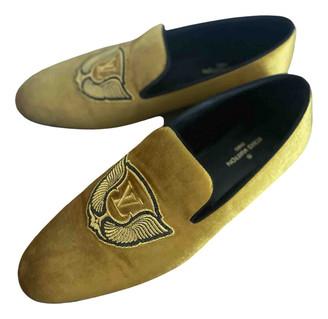 Louis Vuitton Yellow Velvet Flats