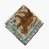 J.Crew Drake's® cotton pocket square in tiger print